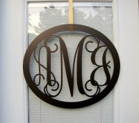 Oval Metal Monogram Wall/Door Hanger by HouseSensationsArt ...