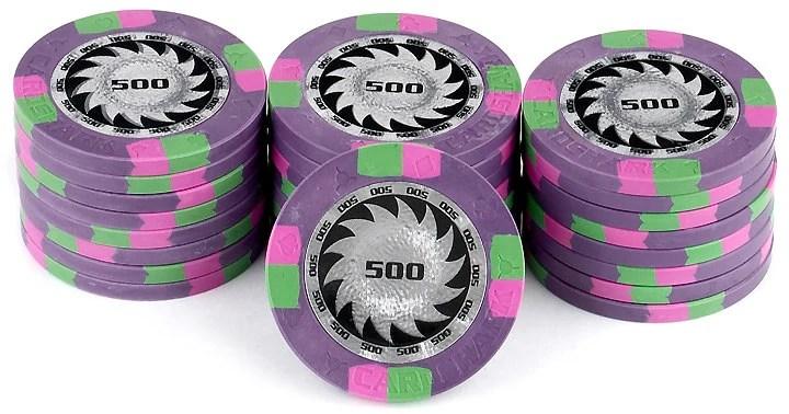 Casino Purple Poker Chips Birthday  Edible Cake And