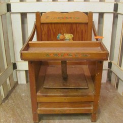 Wooden Potty Chair Childrens Covers Vintage Wood With Tray