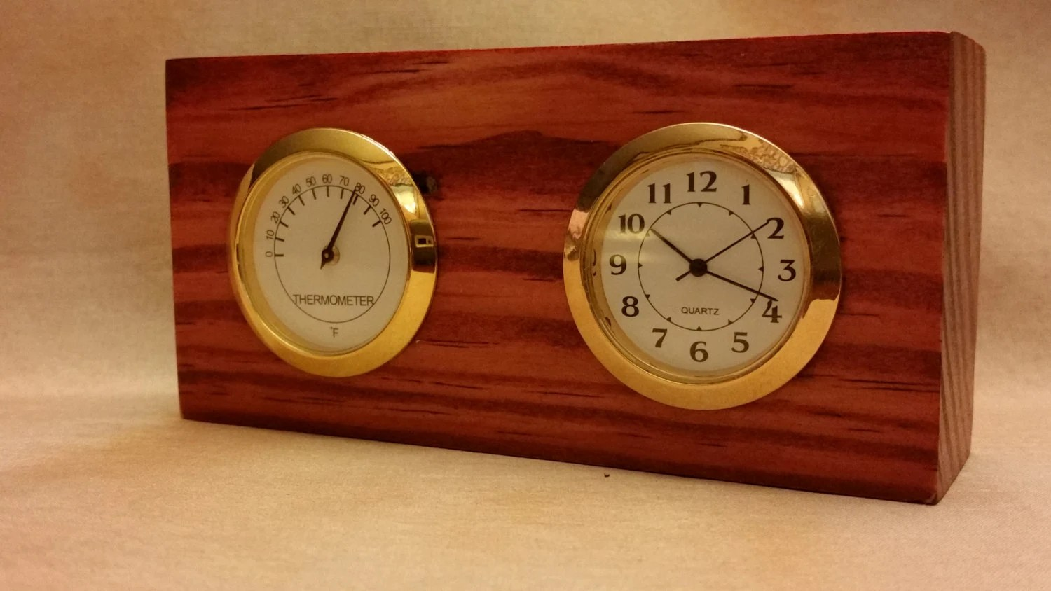 Small Dual Face Desk Clock