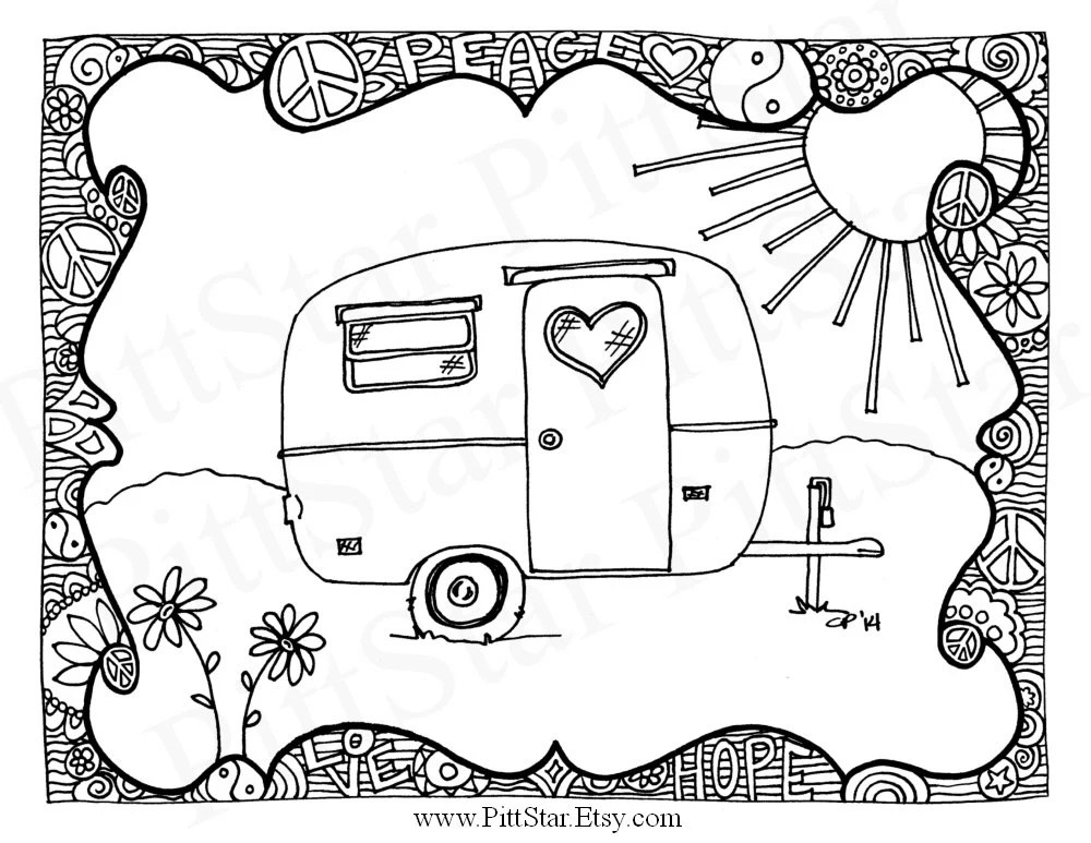 Instant Download Vintage Airstream Travel Trailer