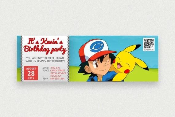 pokemon birthday party printable