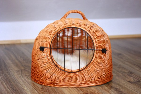 Wicker Cat Dog Bed Cave Pet House