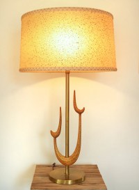 Vintage Mid Century Modern Atomic Rembrandt Brass Table Lamp