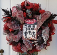 Zombie Mesh Wreath Halloween Wreath Scary by ...