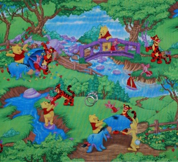 Winnie Pooh & Tigger Fabric 100 Cotton Disney