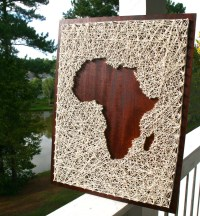 Africa String Art Africa Art Map of Africa Map String