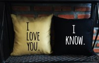SALE I love you I know Throw Pillow coverlove pillow