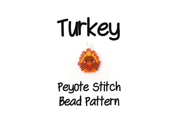 Thanksgiving Turkey Beading Pattern Peyote Stitch by