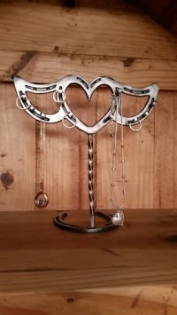Horseshoe Jewelry holder Heart with wings