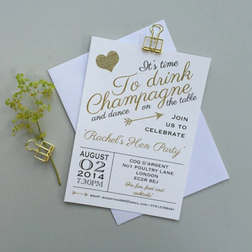 personalised hen party invitations | Inviview.co