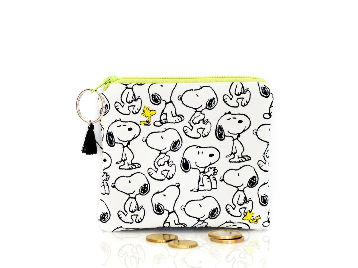 Snoopy Coin Purse Peanuts Key Wallet Small Change Pouch