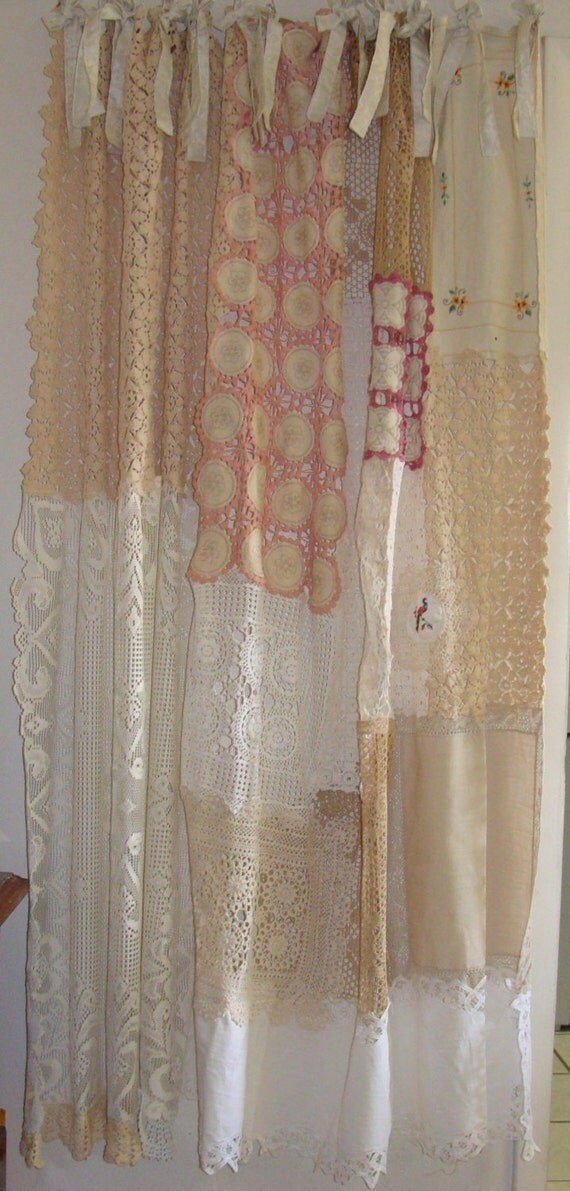Shabby Chic Shower CurtainVintage Crochet