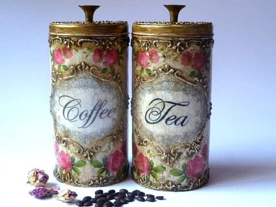 Pots Organisateur De Cuisine Pots Antique La Main Peint