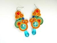 Rainbow earrings colored earrings statement earrings