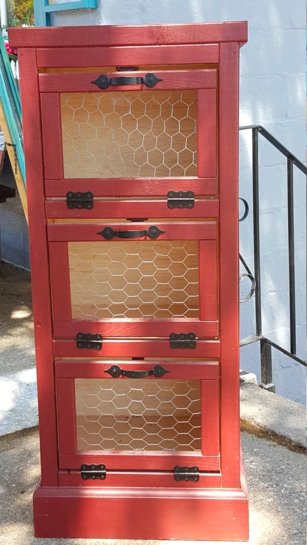 Vegetable Bin 3 Door Kitchen Pantry Organizer And Storage