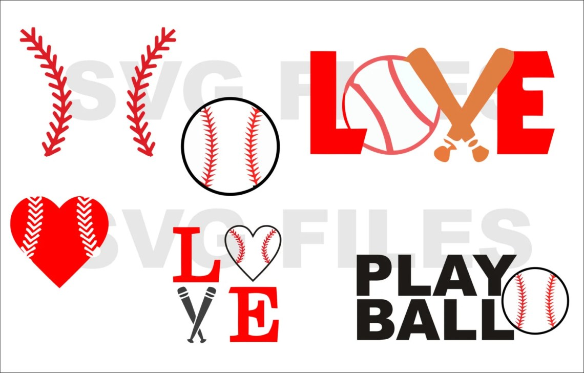 Download Baseball Bat Ball Love Stitches Heart Sports SVG File by ...