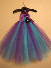 Purple and Turquoise Tulle dress flower girl dress up