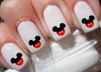 52 Mickey Mouse Pant Ears Nail Decals
