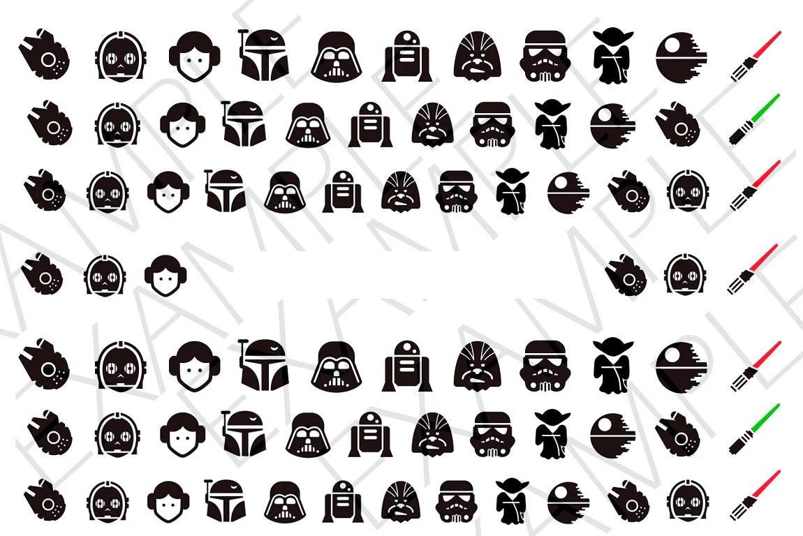 78 Star Wars Nail Decals