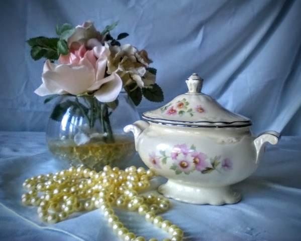 Homer Laughlin China Virginia Rose Vintage Two-handled