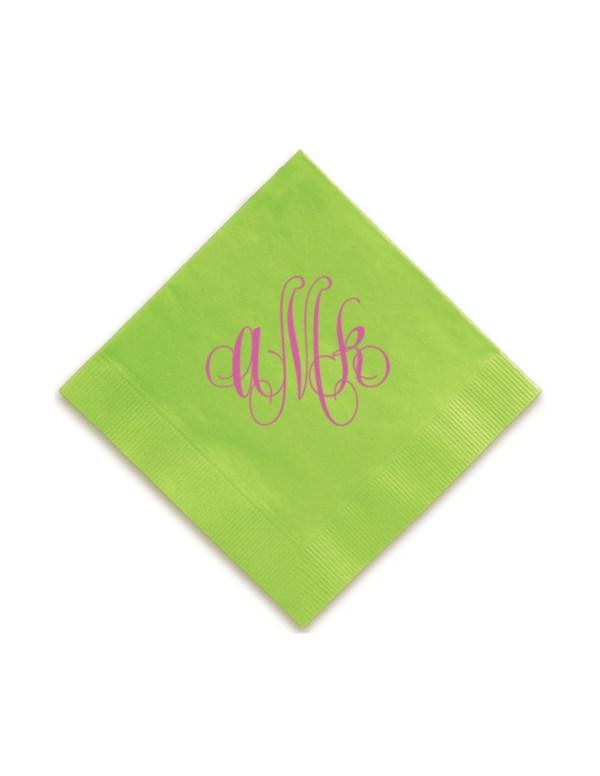 Swirl Monogram Napkins Guest Towels Wedding