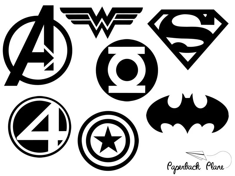 Super heroes SVG PNG Cut Files for use with Silhouette