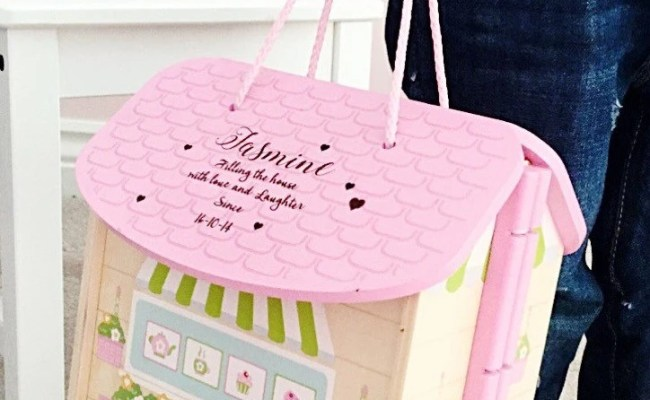 Girls First Birthday Gift Personalised Dolls House 1st