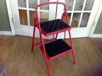 Folding Kitchen step stool Kitchen chair ladder Red