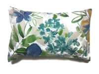 Decorative Pillow Cover Lumbar Navy Blue Teal by ...
