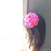 pink flower hair clip little girl