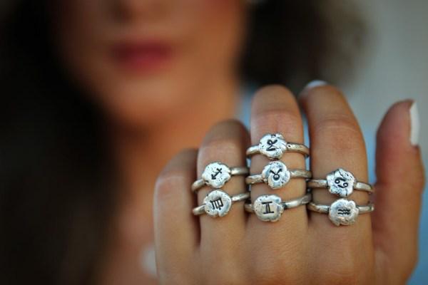 Zodiac Rings Astrology Jewelry Sterling