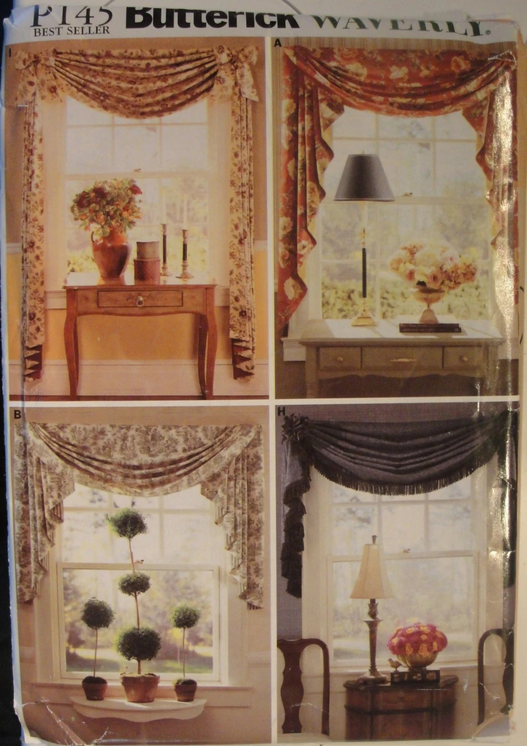 Window Treatments Valances Sewing Pattern Swags