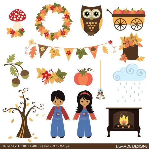fall and thanksgiving clip art