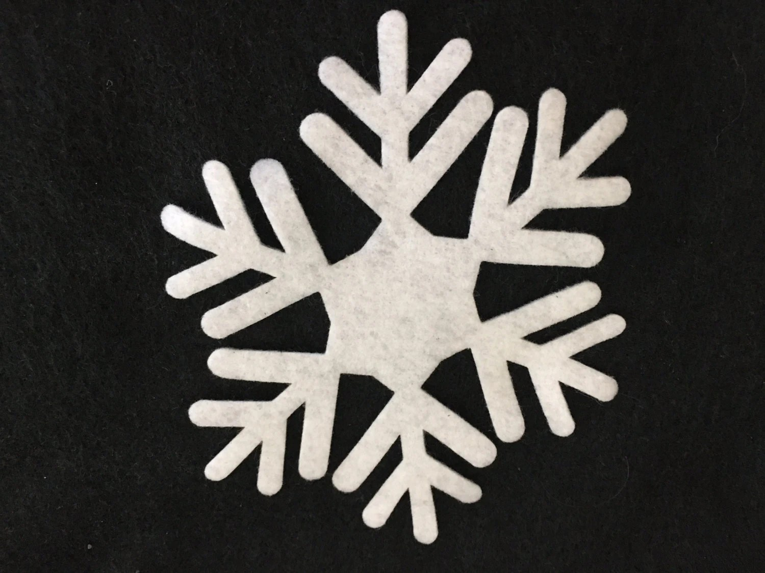 Felt Snowflake 2 Cuts Winter Snowflakes Cut Out Felt