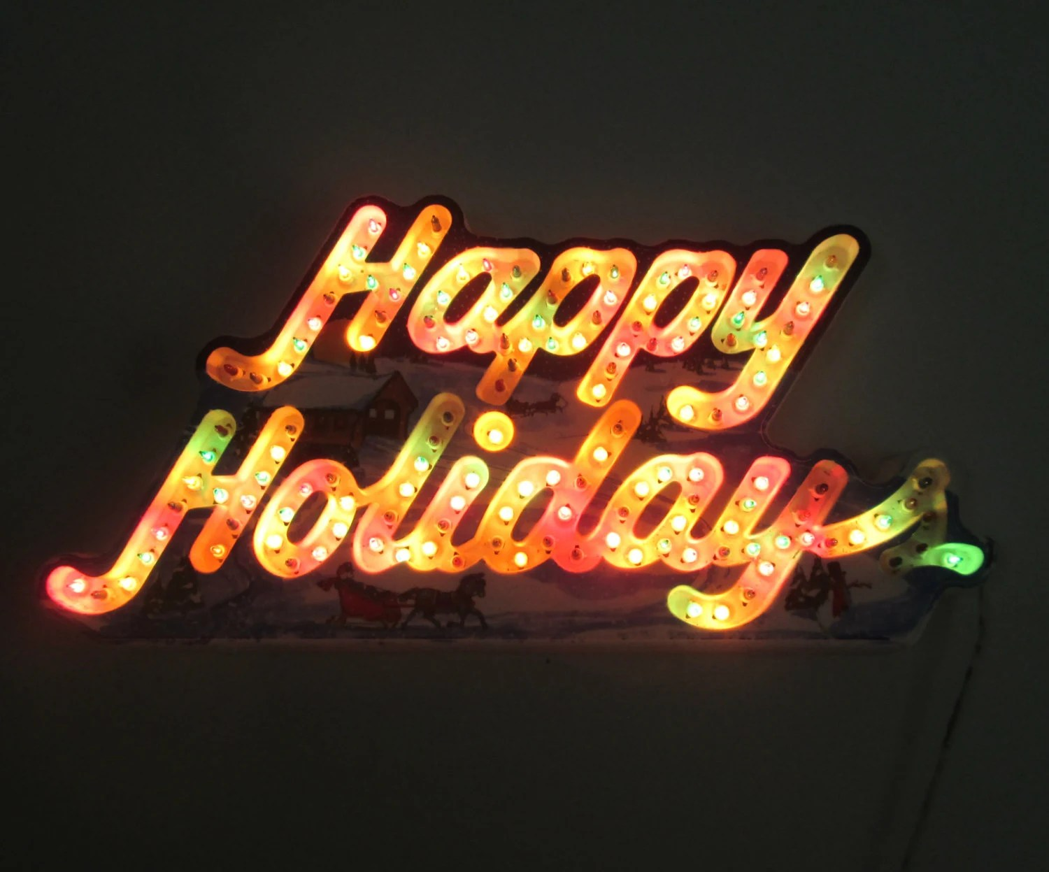 Happy Holidays Dancing Light Sign