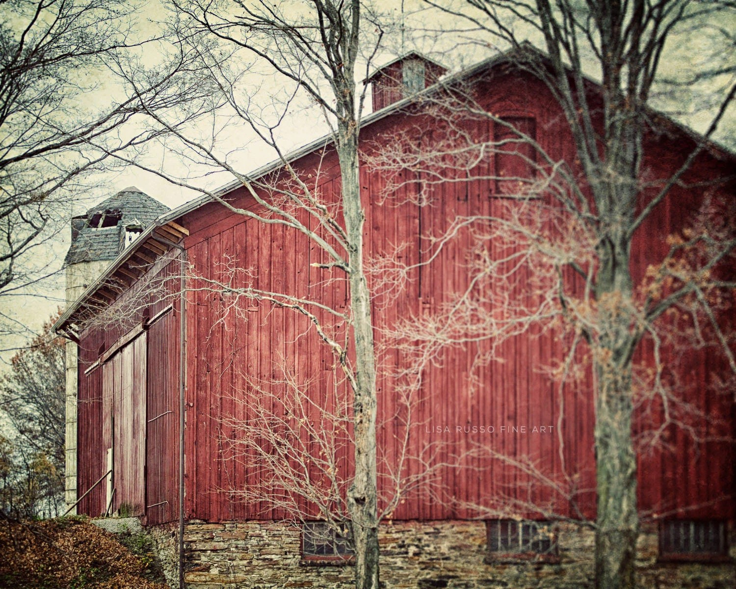 Red Barn Print Or Canvas Wrap Rustic Home Decor Red Country