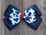 basic hair bows red tractor