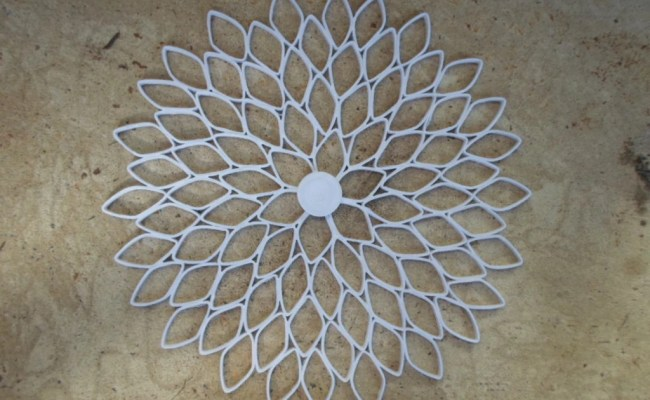 White Home Decor Large Round Wall Hanging Paper Dahlia Wall