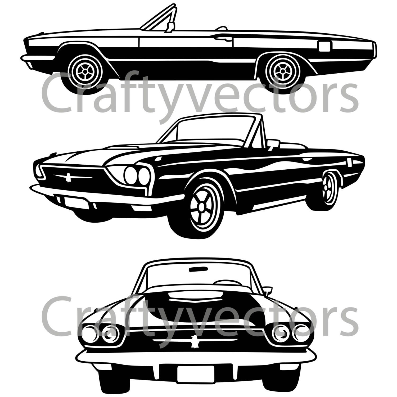 Ford Thunderbird Car Vector File