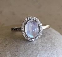 Oval Moonstone Promise Ring Rings for Her June by Belesas ...