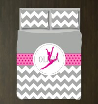 Dance Bedding Set Chevron Duvet Cover Sham Girl