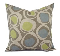 Two Brown Green and Blue Decorative Pillow Covers Two