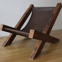 Wooden Lounge Chair Been Bag Reclaimed Wood And Leather Handmade