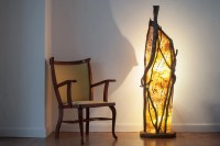 Floor lamp design Handmade Wood ivy