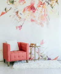 Spring Floral Large Wall Mural Watercolor Wallpaper