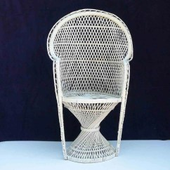 Fan Back Wicker Chair Cheap Dining Room Chairs Set Of 4 Vintage Peacock Child White Arms