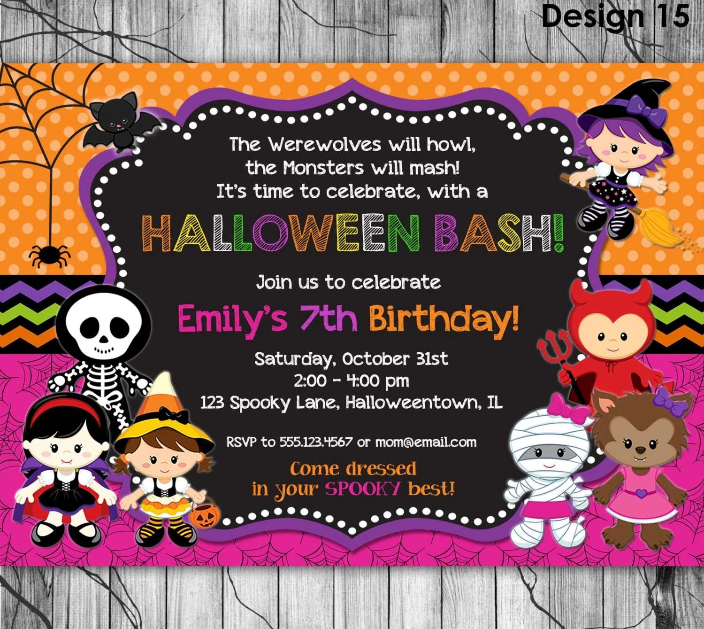 Halloween Birthday Invitation Printable By Kidspartyprintables