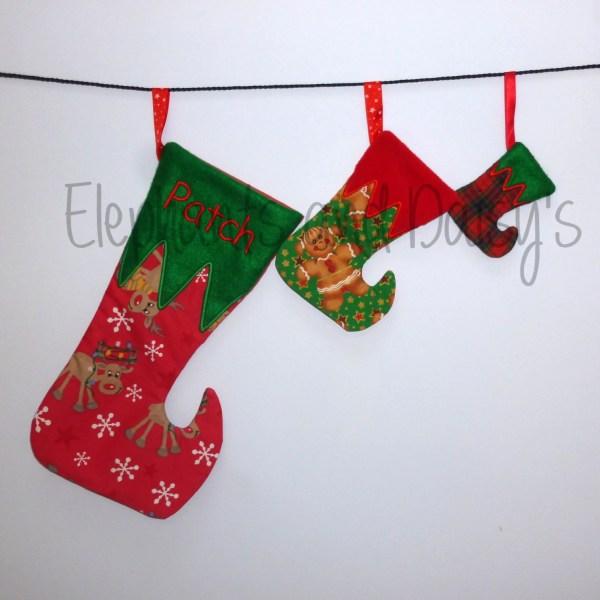 Elf Christmas Stocking Set Design Files