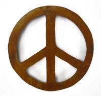 Peace Sign Metal Wall Sculpture WS1205 by Oregardenworks ...